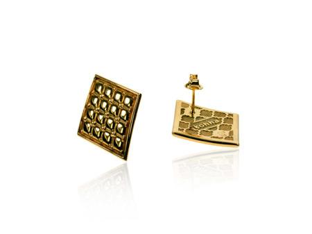 Kolczyki pozłacane Chesterfield Gold