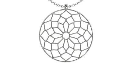 Naszyjnik srebrny Chartres White