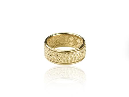 Obrączka pozłacana Vesuvio Gold