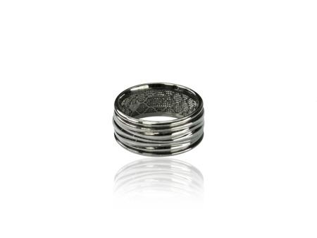 Obrączka srebrna Baltic Black
